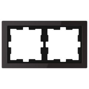 Рамка 2-ая Merten D-Life, черный оникс
