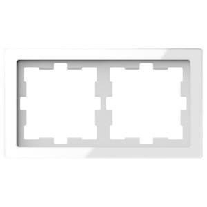 Рамка 2-ая Merten D-Life, белый кристал