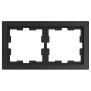 Рамка 2-ая Merten D-Life, базальт