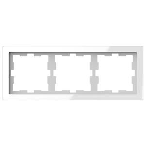 Рамка 3-ая Merten D-Life, белый кристал
