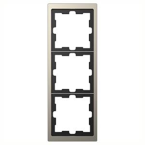 Рамка 3-ая Merten D-Life, никель