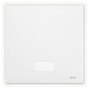 Клавиша 1-я с окном для символа, IP44 System Design Merten полярно-белый