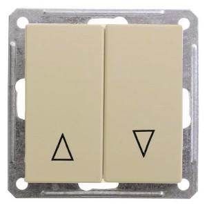 Двухклавишный выключатель с механич блокировкой для жалюзи механизм SE W59, шампань