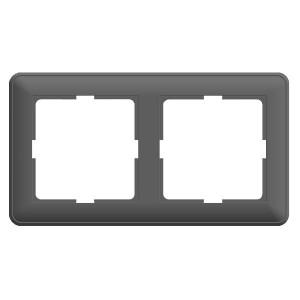 Рамка 2 поста SE W59, матовый хром