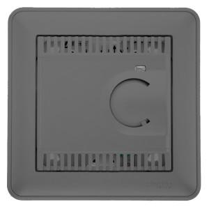 Термостат теплого пола с датчиком от+5до+50°C 10A в сборе SE W59, матовый хром