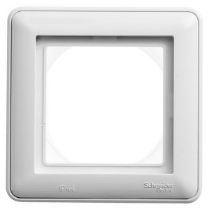 Рамка SE W59 Aqua 1-пост IP44, белый