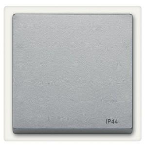Клавиша 1-ая IP44 для выключателей и кнопок System M Merten алюминий