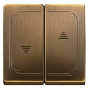 Клавиша 2-ая для кнопочного и клавишного выключ рольставней System Design Merten античная латунь