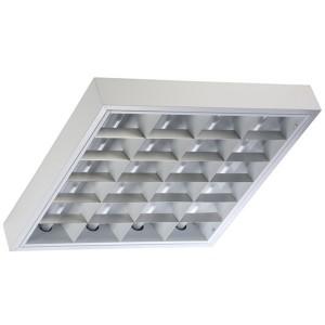 Накладной светильник TL414 S 4х14 Вт ЭПРА, 593х593, параболический зеркальный растровый