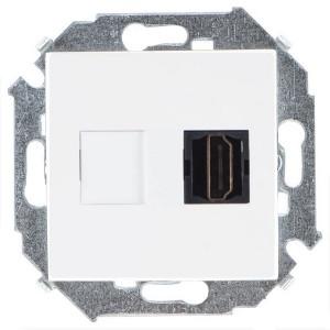 Розетка HDMI аудио/видео v1.4 тип А Simon 15, белый