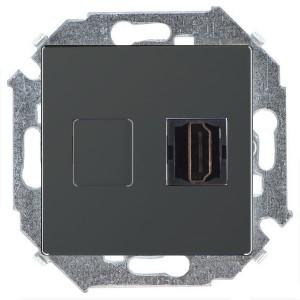 Розетка HDMI аудио/видео v1.4 тип А Simon 15, графит