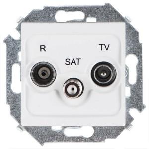 Розетка R-TV-SAT простая  Simon 15, белый