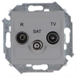 Розетка R-TV-SAT простая  Simon 15, алюминий