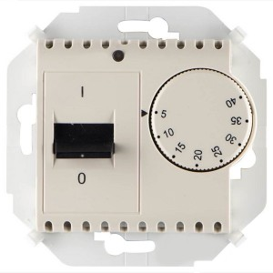 Термостат для тёплого пола с зондом 16А 230В 3600Вт 5-40град. Simon 15, слоновая кость