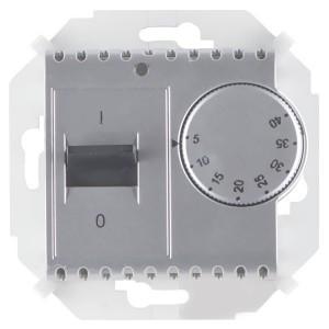 Термостат для тёплого пола с зондом 16А 230В 3600Вт 5-40град. Simon 15, алюминий