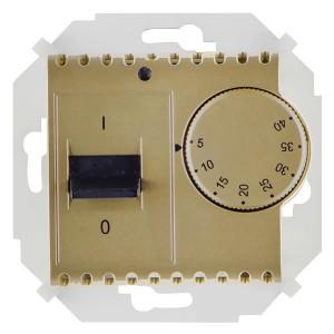 Термостат для тёплого пола с зондом 16А 230В 3600Вт 5-40град. Simon 15, шампань