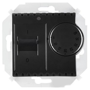Термостат для тёплого пола с зондом 16А 230В 3600Вт 5-40град. Simon 15, графит
