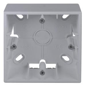 Коробка для накладного монтажа 1 пост Simon 15, алюминий