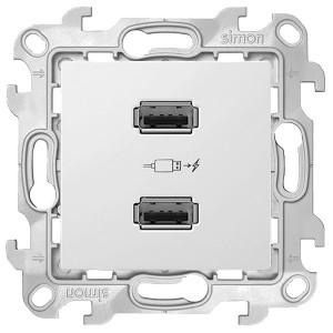 Зарядное устройство 2хUSB 2,1А Simon 24 Harmonie, белый