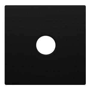 Накладка розетки TV Экопласт LK80, черный бархат