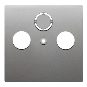 Накладка розетки TV+FM+SAT 2(3) Экопласт LK80, серебристый металлик