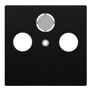 Накладка розетки TV+FM+SAT 2(3) Экопласт LK80, черный бархат
