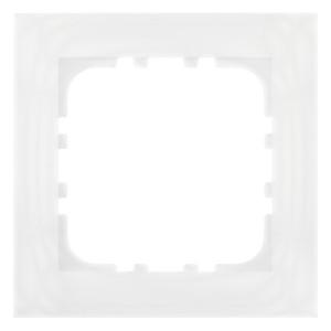 Рамка 1-постовая Экопласт LK80 натуральное стекло (белый)