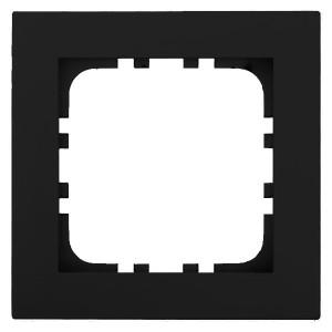 Рамка 1-постовая Экопласт LK80 Flat (черный бархат)