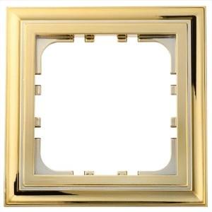 Рамка 1-постовая Экопласт LK80 Classic (золото)