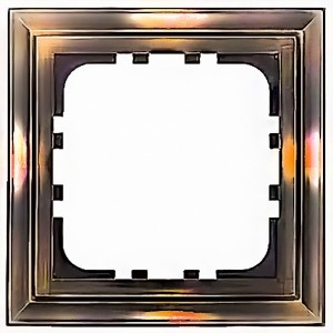 Рамка 1-постовая Экопласт LK80 Classic (бронза)