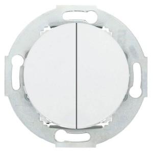 Выключатель двухклавишный 10 A  250 B Экопласт Vintage, белый