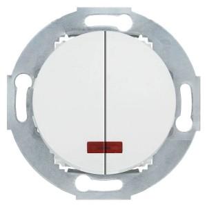 Выключатель двухклавишный с индикатором 10 A  250 B Экопласт Vintage, белый