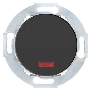 Выключатель одноклавишный  с индикатором 10А  250В Экопласт Vintage, черный