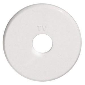 Накладка розетки TV Экопласт Vintage, белый