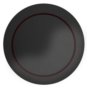Накладка светорегулятора со световой индикацией Экопласт Vintage, черный