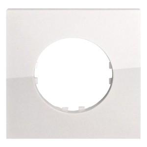Рамка 1-постовая квадрат Экопласт Vintage-Quadro, белый