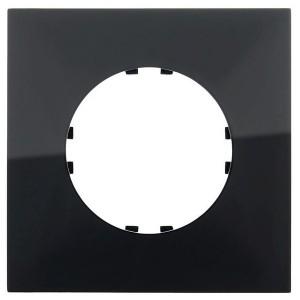 Рамка 1-постовая квадрат Экопласт Vintage-Quadro, черный