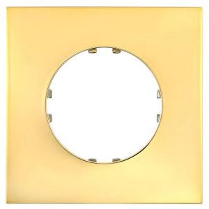 Рамка 1-постовая квадрат Экопласт Vintage-Quadro, золото