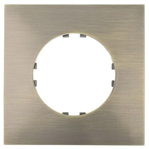 Рамка 1-постовая квадрат Экопласт Vintage-Quadro, бронза