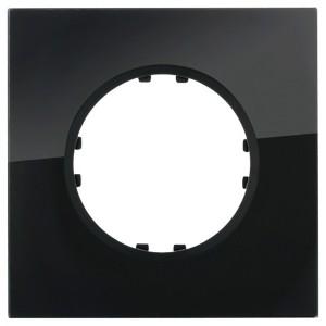Рамка 1-постовая квадрат Экопласт Vintage из натурального темного стекла
