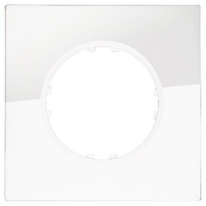 Рамка 1-постовая квадрат Экопласт Vintage из натурального светлого стекла