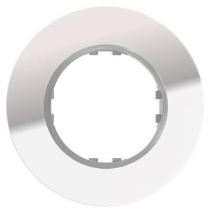 Рамка 1-постовая круглая Экопласт Vintage из натурального светлого стекла