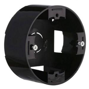 Подъемная коробка 1-пост. круглая Экопласт Vintage-Classic, черный