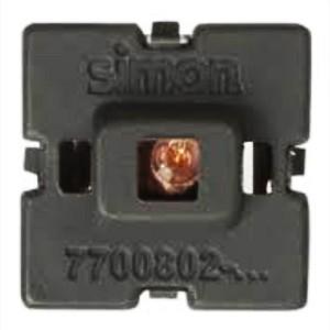Блок LED подсветки цвет красный Simon 82, механизм