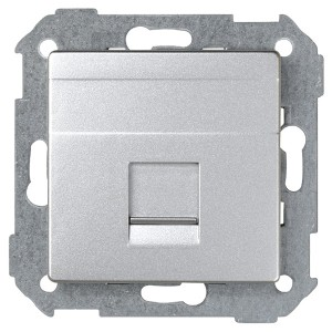 Адаптер со шторками на 1 коннектор UTP (RJ45) SYSTIMAX Simon 82 Detail, алюминий