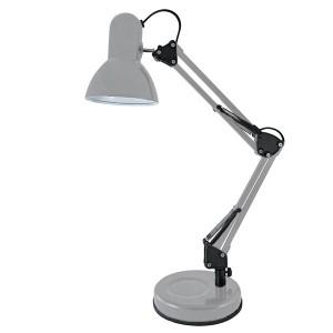 Светильник настольный на основании 2 колена 60Вт, E27 серый TDM