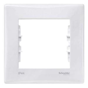 Рамка Sedna 1 пост IP44, белый New