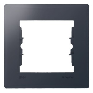 Рамка Sedna 1 пост IP44, графит New