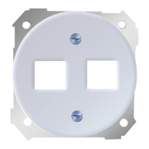 Адаптер на два разъема RJ45(12) 75528- 75540- 75541- 75544-39 Simon 88 белый