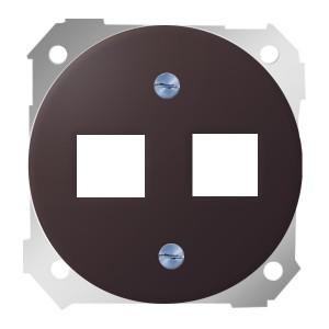 Адаптер на два разъема RJ45(12) 75528- 75540- 75541- 75544-39 Simon 88 коричневый
